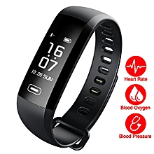 Smart Band Smart Fitness Bracelet Smart watch Waterproof Heart Rate Blood Pressure Monitor Activity Tracker Sport - Black