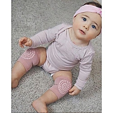 Cotton Anti-slip Baby Knee Protection Pads Cartoon Crawling - Pink
