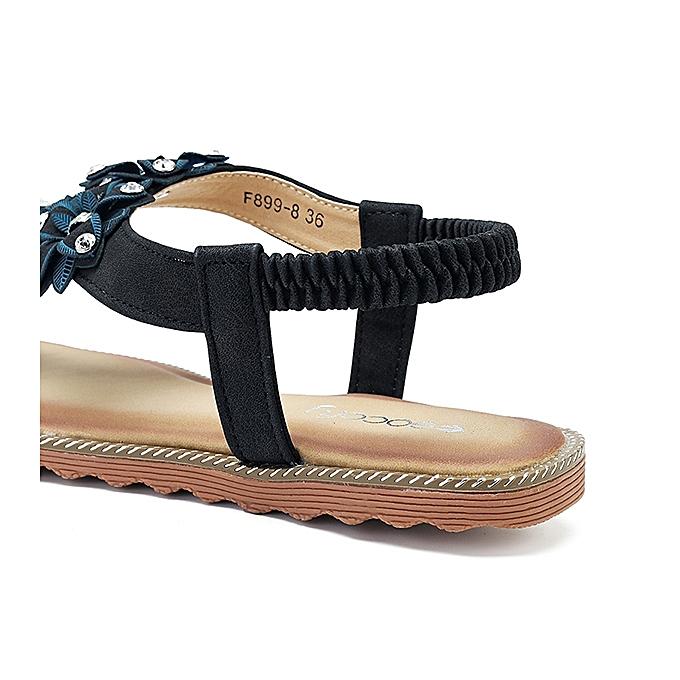 2027103fab75 Buy Fashion SOCOFY Women Bohemian Casual Beach Soft Flat Sandals ...