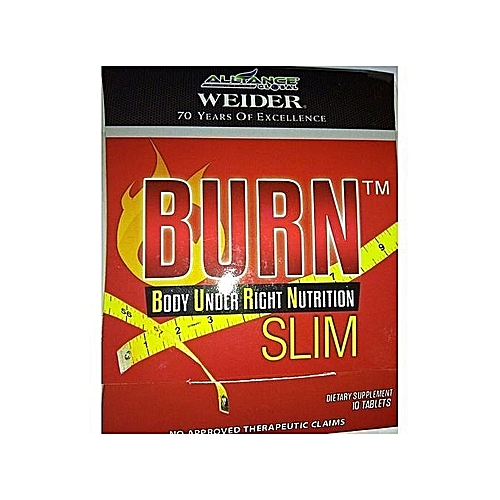 Burn Slim Slimming Tablets 10 Tablets