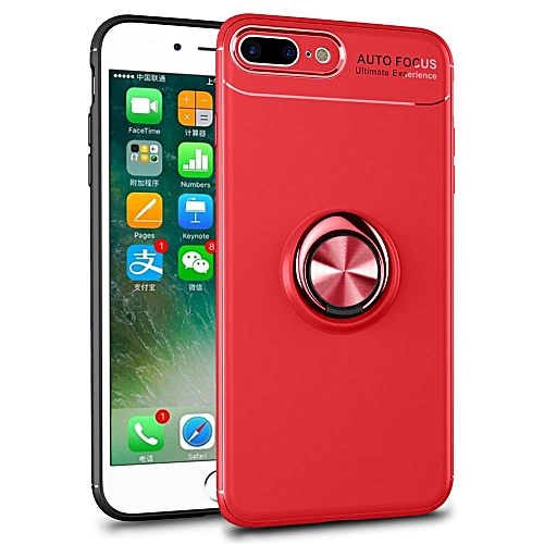 sale retailer 9a854 85aa3 iPhone 8 Plus Case, iPhone 7 Plus Case, Luxury Colorful Metal Magnetic Ring  Soft Silicone Cover Phone Casing