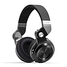 Wireless Bluetooth Headphones On Ear with Mic (Black)