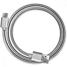 USB Cable FOR IPHONES,IPADS, - FULL METALLIC BODY Silver