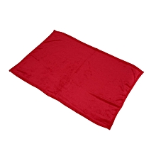 70X100cm Solid Color Blanket Coral Fleece Comfortable Home Bed Sofa Blanket super red