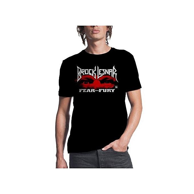 e2b1d61b Fashion Brock Lesnar Fear The Fury Black T-shirt Men's Funny Cool T ...