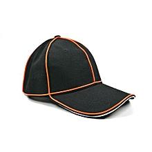 Battery Powered Blinking EL Peaked Cap LED Light Up Hat Party Decoration For Halloween Christmas Color:Orange Size:Adjustable