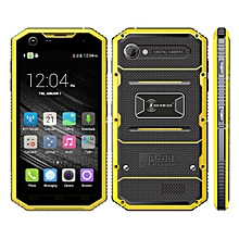 KEN XIN DA Proofing W7, 1GB+16GB, IP68 Waterproof, Shockproof, Dustproof, 5.0 inch Android 5.1 MTK6735 Quad Core, Network: 4G(Yellow)