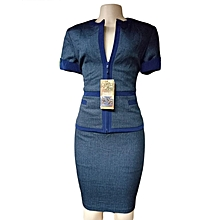 Womens Official Skirt Suit - Navy Blue