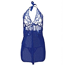 Sexy Lingerie Floral Sleepwear Lace Wire Free G-string Underwear Nightwear