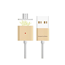 Magnetic Double Alloy Micro USB Charging Cable For Android Phones And Tablets - Golden