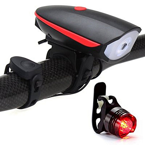 aedd42a066b Allwin LED Cycling Lamp USB Rechargeable Bike Front Light With Horn  Handlebar front light and tail light   Best Price