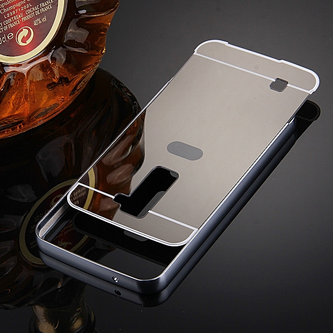 Buy Generic For LG K10 Electroplating Mirror Push Pull PC Protective Case Back Shell Cover +