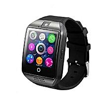 Q18 Smart Watch Phone - 0.8MP Camera – Single SIM - Black