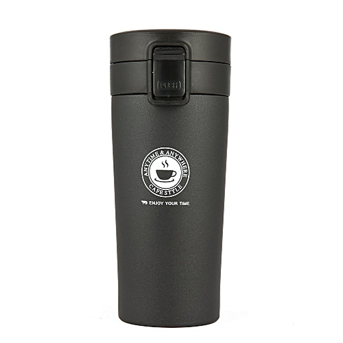 Vacuum Thermo Cup Stainless Steel Car Travel 380ml Black Bottle Flasks Mug Thermol WIDH2E9