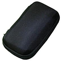 Portable Mini Round Hard Storage Case Bag for Earphone Headphone SD TF Cards BK  JY-M