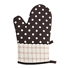 1PCS Cotton Heat Resistant Home Kitchen Baking Cooking Microwave Oven Glove Coffee