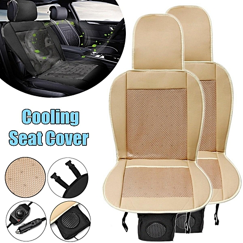 2PCS 12V Cooling Car Seat Cushion Speed Control Ventilate Breathable Air Flow Holes