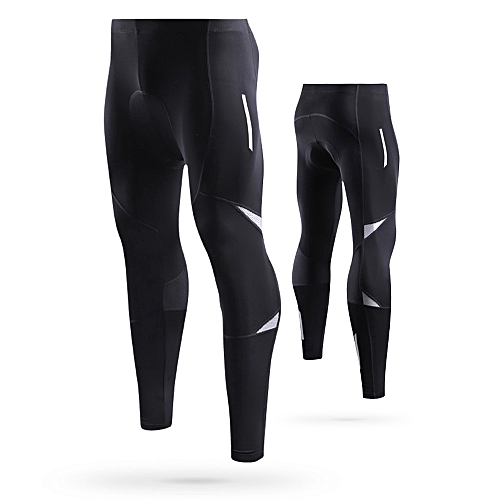 Generic Lixada Men s Reflective Bicycle Pants Gel Padded Cycling Compression  Tights Leggings Outdoor Riding Bike Pants fd783750e