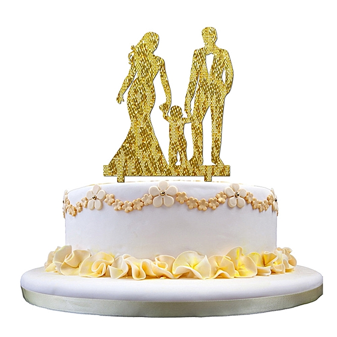 Buy Generic Hot Party Bride & Groom Acrylic Wedding Day Cake Topper ...
