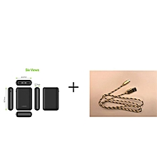 VEGER Power Bank VP1048 10000mAh Safe/Efficient/Fashion 2 USB OUTPUT Power Bank For Smart Phones - Black