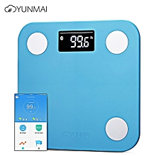 YUNMAI Mini 1501 Smart Fat Scales Bluetooth 4.0 APP Control BMI Data Analysis Weighing Tool BLUE INTERNATIONAL VERSION
