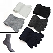 5 Pairs Fashion Men Five Fingers Separate Toe Socks Comfortable Warm Hot