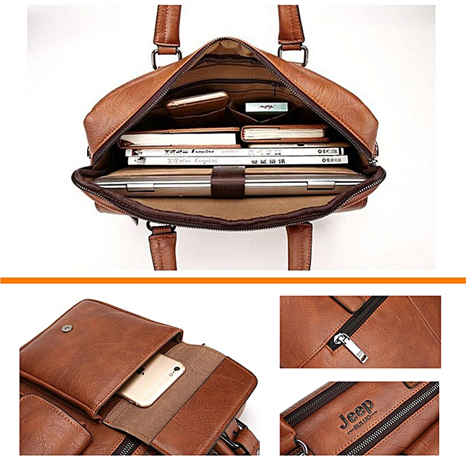 244f5a5789 ... JEEP BULUO Men Business Bag For 13'3 inch Laptop Briefcase Bags 2 in 1