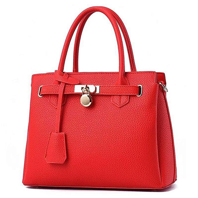 Classy Las Leather Handbags Red