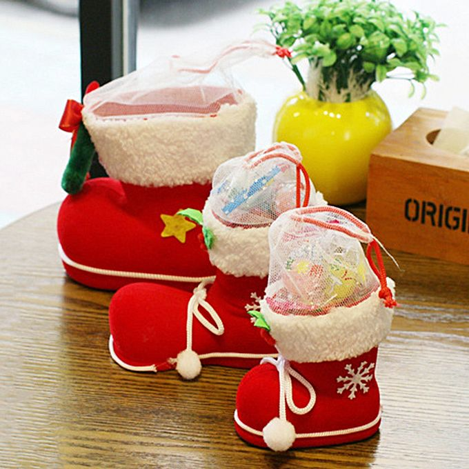 Generic Creative Christmas Flocking Boots Candy Boots Home Decorations Supplies Buy Online