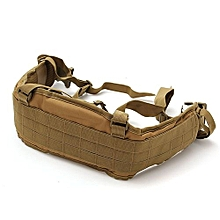 MOLLE Tactical Waist Soft Padded Belt With Suspender Webbing 600D Heavy Duty-