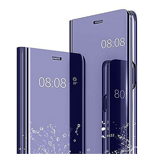 quality design 1f1c0 34ad8 Samsung Galaxy J7 Plus(J7+) Leather Case With Stand Function And Plating  Mirror-Purple