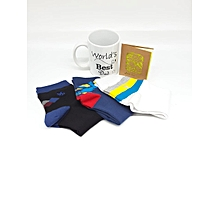 Gift Hamper- Branded Mug, 3 Pairs Of Happy Socks and A Gift Card