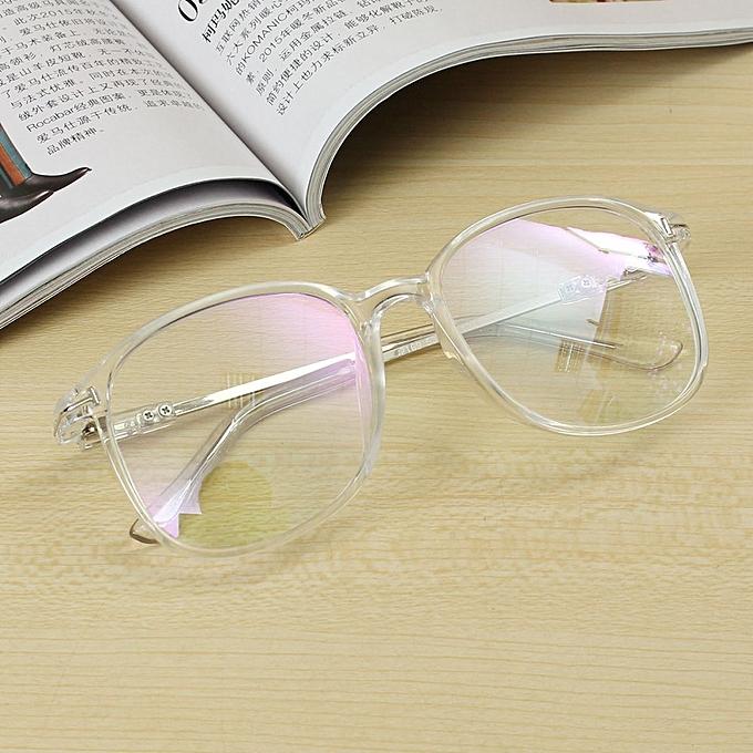f20cbd967ba Unisex Full Rim Spectacles Transparent Eyeglass Frame Clear Glasses Eyewear  Transparent - Multi
