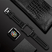 TOTUDESIGN Armour Series TPU+PC Watch Strap for Apple Watch Series 4 & 3 & 2 & 1 38mm & 40mm (Grey)