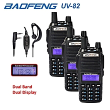 3 x Baofeng UV82 Walkie Talkie 5W VHF UHF UV-82 Portable Walkie Talkies 2800mAh Two Way Radio + Free PPT Earpiece