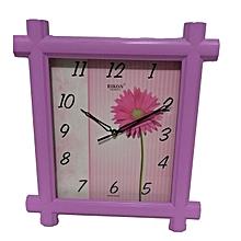 Wall clock -rectangular shaped Pink 8951
