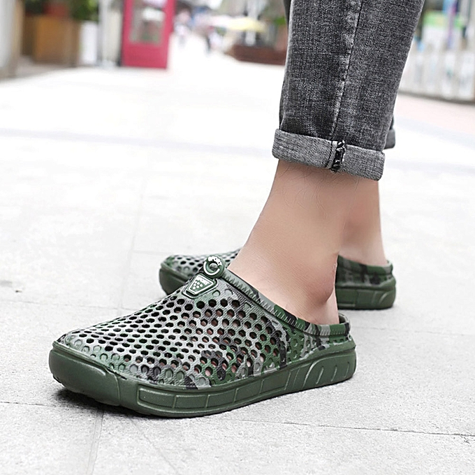 c21f7abdb3b834 Birthpar store men quick drying summer beach slipper flat breathable  outdoor sandals male shoes army jpg