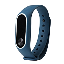 CO Replacement Wrist Strap With Two Color TPU Wristband for XIAOMI MI Band 2-white & blue