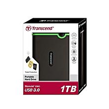 External Storage Millitary-Grade Shock Resistant Hard Disk USB 3.0 - 1TB - Black