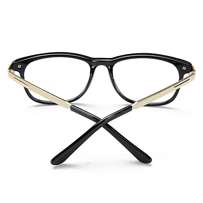 c1e2fd897610 Women Men Retro Eyeglass Frame Full-Rim Glasses Clear Lens Metal Designer  Unisex