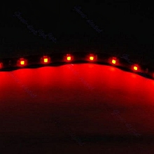 15 LED 30cm Car Motor Vehicle Flexible Waterproof Strip Light 5 Color
