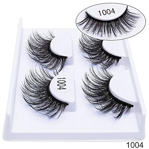 07d4ee353a9 Generic 2 Pairs Natural False Eyelashes Fake Lashes Long Makeup 3D Mink  Lashes EyeExtension Handmade Mink Eyelashes For Beauty(1004)