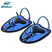 Paired Unisex Swimming Adjustable Paddles Fins Webbed Training Pool Diving Hand Gloves-BLUE