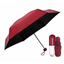 Fashion Foldable Capsule Shape Umbrella - Red
