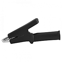 Full Insulated 60mm Crocodile Clip Test Vehicle Battery Cable Wire Clamp (Black)