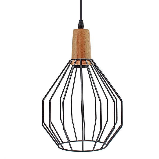 Generic Modern Ceiling Lights Bar Led Lamp Wood Pendant Light Black
