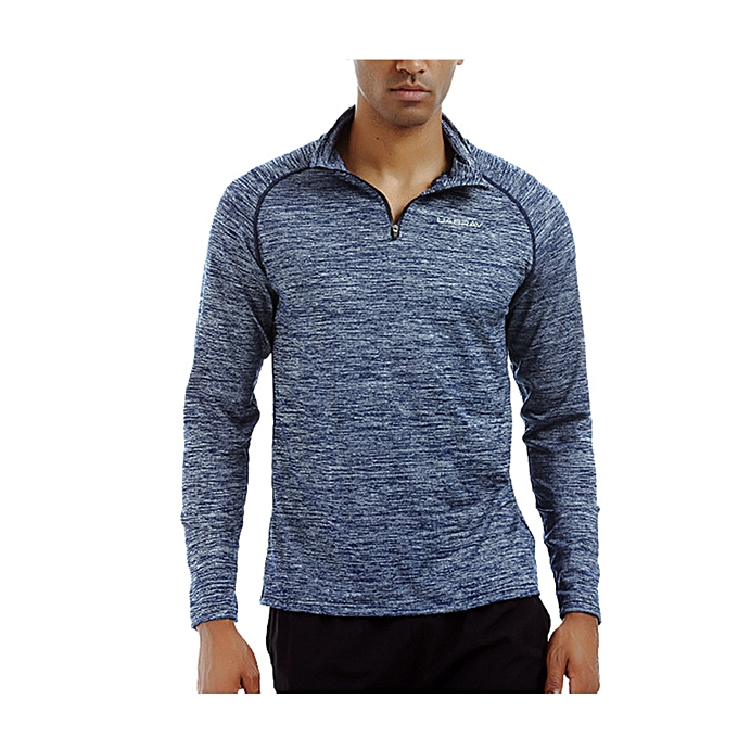 Generic Men S 1 4 Zip Athletic Shirts Dry Fit Running Workout Long
