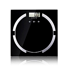 Technologg Electronic Scale  Fitness Smart Weigh Body Fat Digital Precision Scale Platform Home Use Health-black
