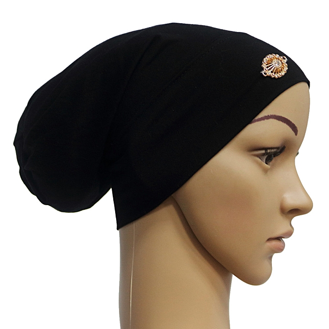 16c06bf9 meibaol store Women Muslim Stretch Turban Hat Chemo Cap Hair Loss Head Scarf  Wrap Cap
