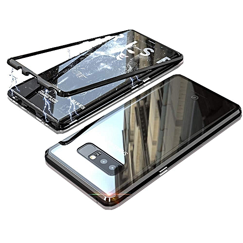 sports shoes 0dabd 91bb9 Galaxy Note 8 Case,Magnetic Adsorption Case Metal Bumper Case +Tempered  Glass Back With Built-in Magnet Flip Cover For Samsung Galaxy Note 8